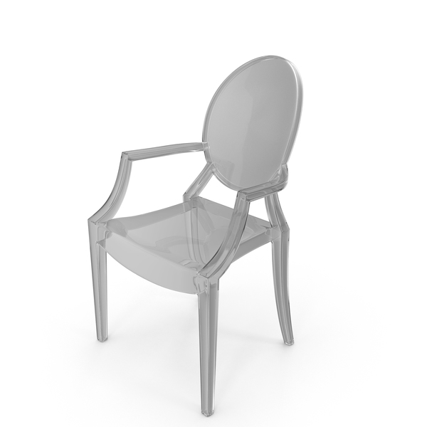 Kartell Louis Ghost Philippe Starck Glass Armchair PNG & PSD Images