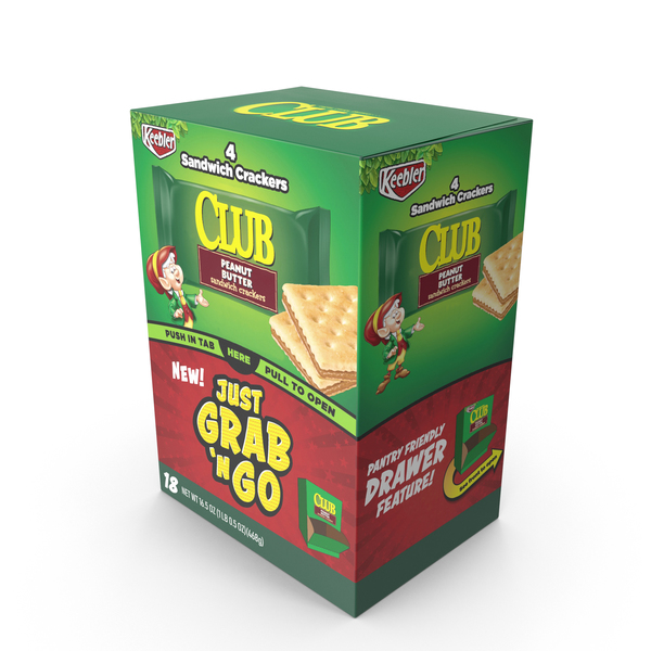 Cracker: Keebler Club Peanut Butter Sandwich Crackers PNG & PSD Images
