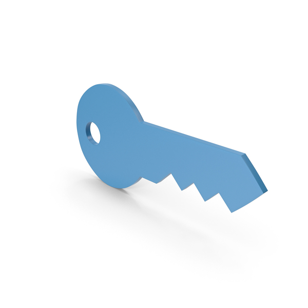 Computer: Key Blue Icon PNG & PSD Images