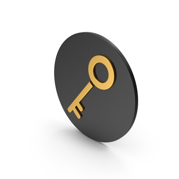 Computer: Key Gold Icon PNG & PSD Images