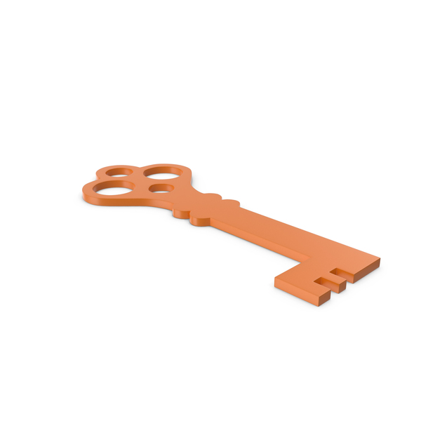 Computer: Key Orange Icon PNG & PSD Images