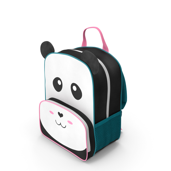 Kid's Backpack Panda PNG & PSD Images