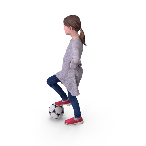 Girl: Kid Soccer Ball Player PNG & PSD Images