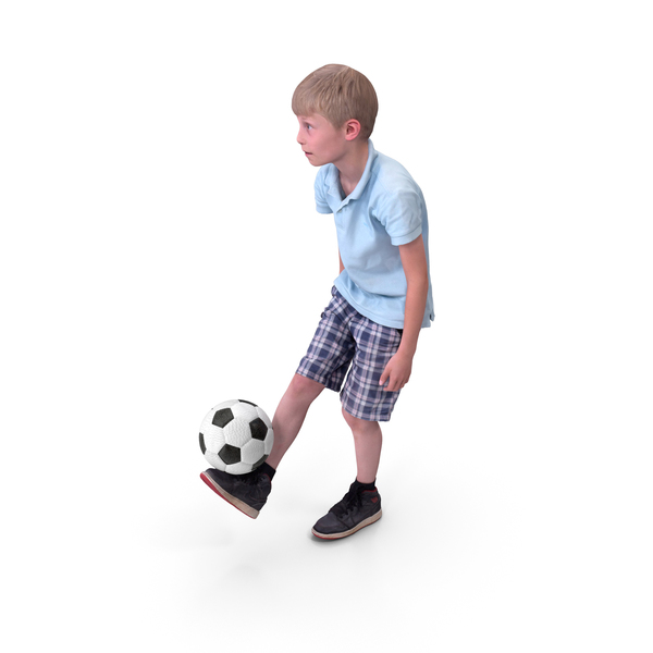 Kid Soccer Ball Player with Ball PNG & PSD Images