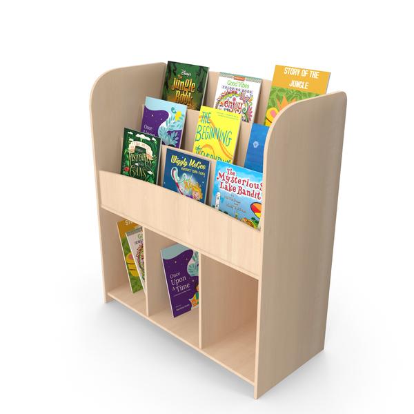 Kids Bookshelf PNG & PSD Images