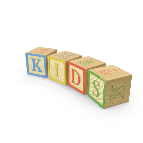 Kids Letter Blocks PNG & PSD Images