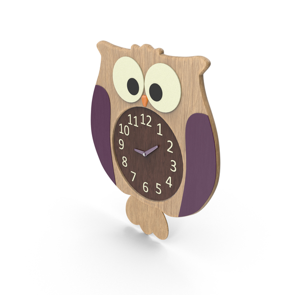 Kids' Room Owl Clock PNG & PSD Images