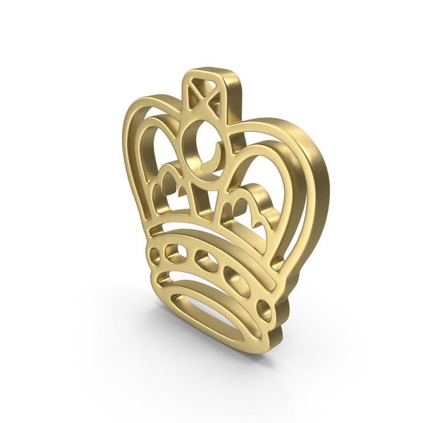 Symbols: King Logo Gold PNG & PSD Images