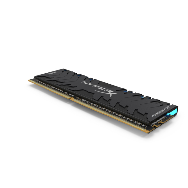 Kingston HyperX Predator DDR4 Blue Light PNG & PSD Images