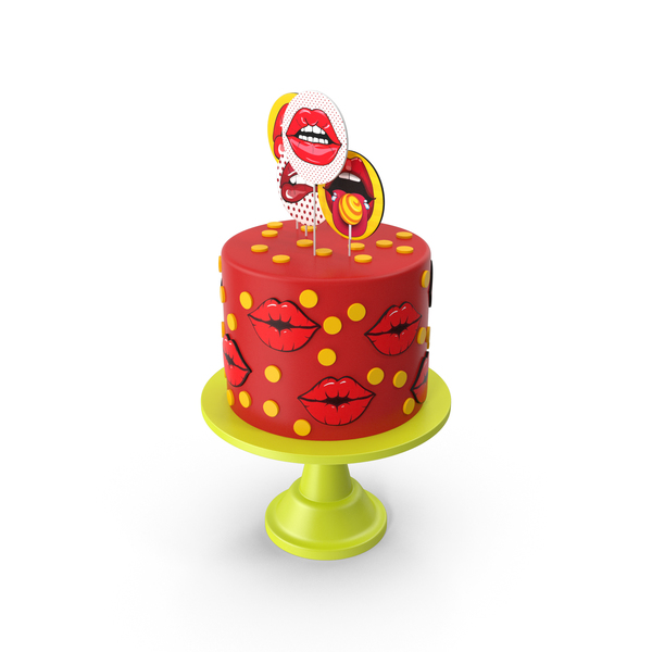 Kisses Comic Cake PNG & PSD Images