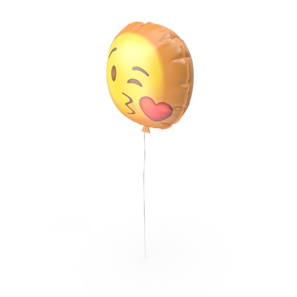 Kissing Emoji Ballon PNG & PSD Images