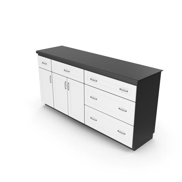 Set: Kitchen Cabinet Black White PNG & PSD Images