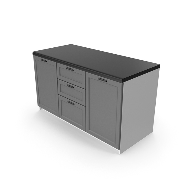 Kitchen Cabinet Gray PNG & PSD Images