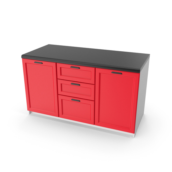 Kitchen Cabinet Red PNG & PSD Images