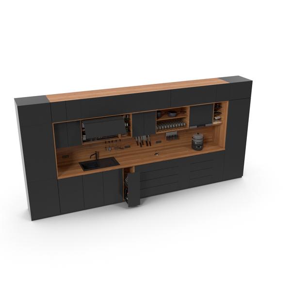 Kitchen Furniture Set Dark PNG & PSD Images