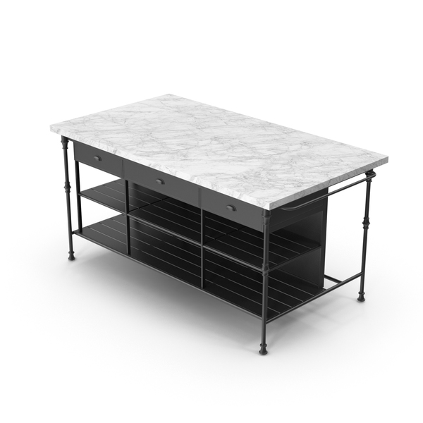 Kitchen Island Marble Top PNG & PSD Images