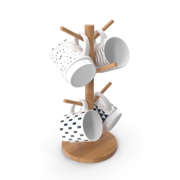 Kitchen Mug Tree Stand Set PNG & PSD Images