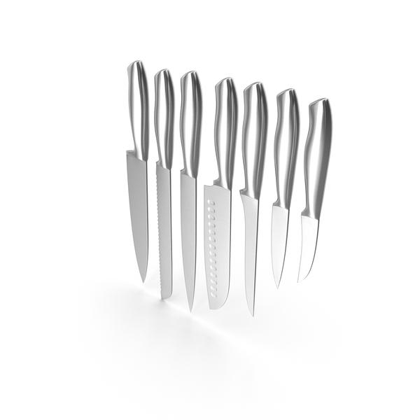 Paring Knife: Kitchen Steel Knives Set PNG & PSD Images