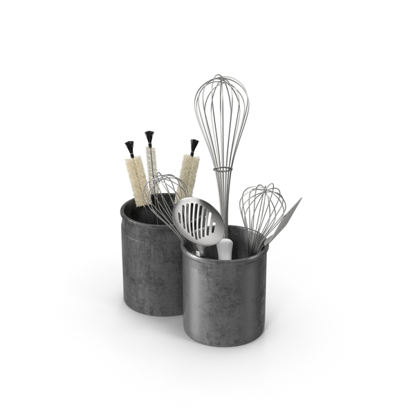 Kitchenware: Kitchen Utensils in Holders PNG & PSD Images