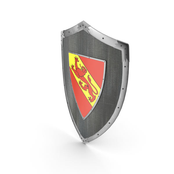 Knight Shield with Lion Coat of Arms -  Blazon PNG & PSD Images