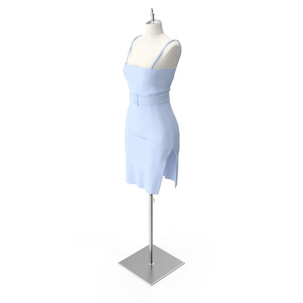Knit Slip Dress With Belt PNG & PSD Images