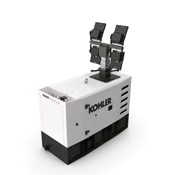 Kohler Generator with Light Mast PNG & PSD Images
