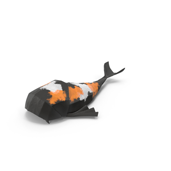Origami: Koi Fish PNG & PSD Images