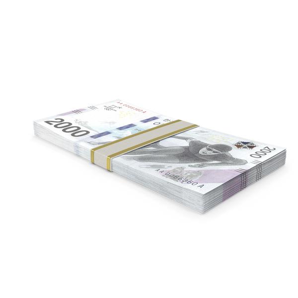 Korean Won Winter Olimpics Banknote Stack PNG & PSD Images