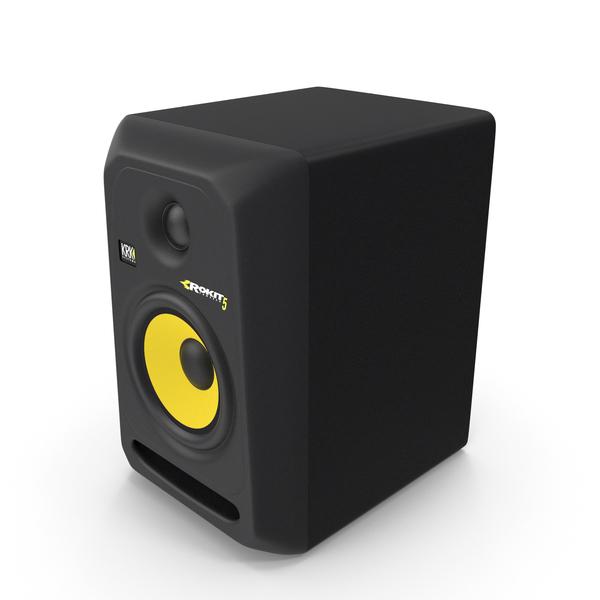 Krk Rokit 5 G3 Studio Monitor PNG & PSD Images