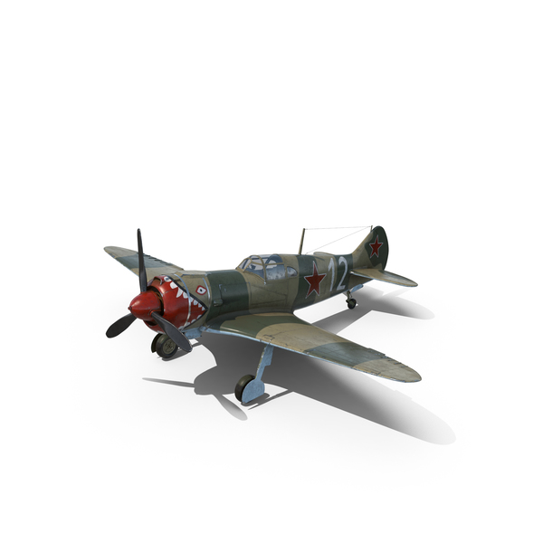 La-5 WWII Soviet Fighter Aircraft Object