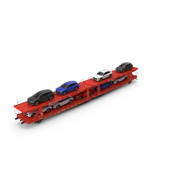 Carrier Truck: Laaers 560 Car Transporter with Audi E Tron PNG & PSD Images