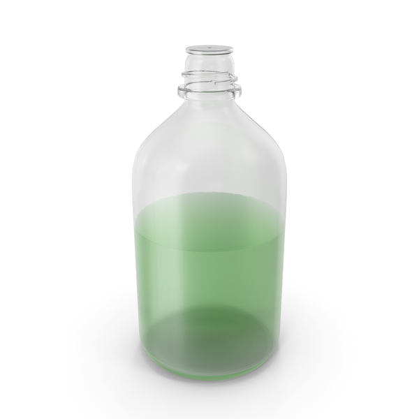 Laboratory Bottle Big With Methanol PNG & PSD Images