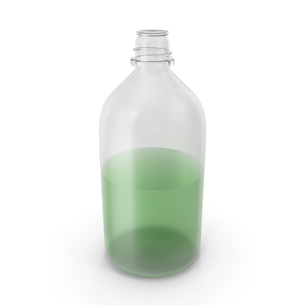 Laboratory Bottle Large With Methanol PNG & PSD Images