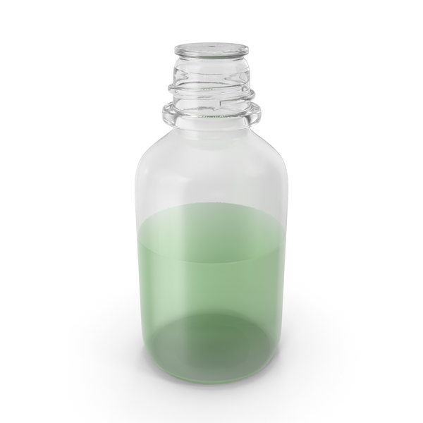 Laboratory Bottle Small With Methanol PNG & PSD Images