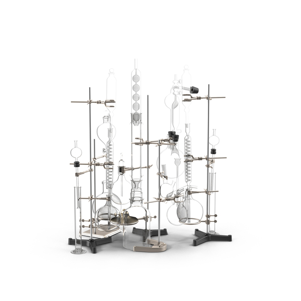 Lab Equipment: Laboratory Chemistry Set PNG & PSD Images