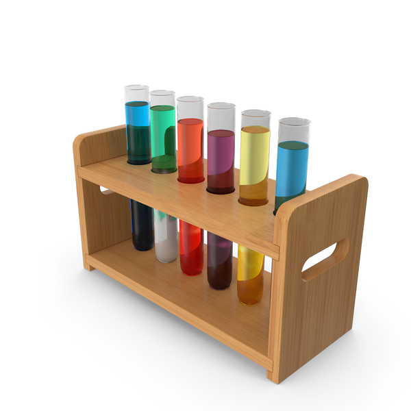 Laboratory Test Tubes in Rack PNG & PSD Images