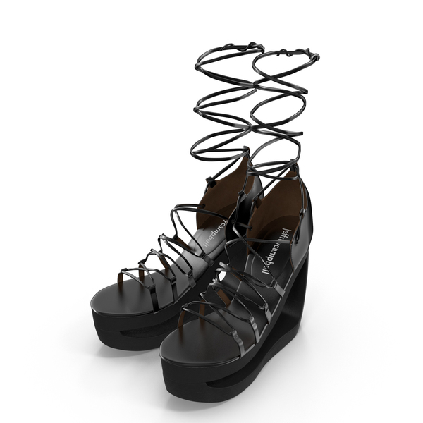Lace-Up Platform Sandals PNG & PSD Images