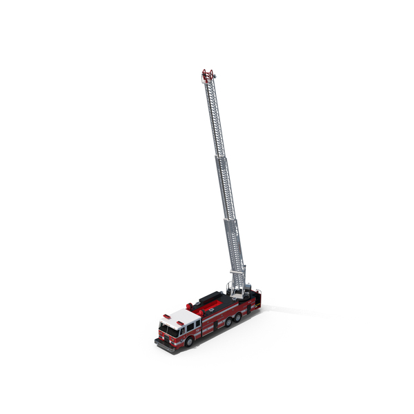 Ladder Fire Truck Rigged PNG & PSD Images