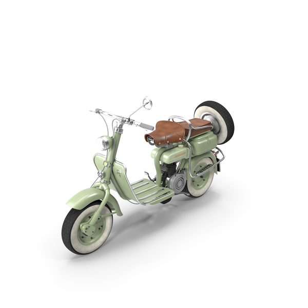 Motor Scooter: Lambretta Innocenti 1952 PNG & PSD Images