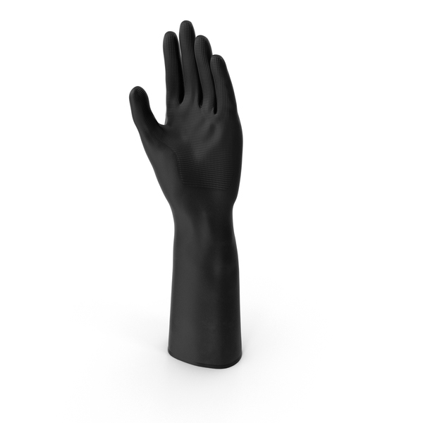 Large Black Rubber Lab Glove PNG & PSD Images