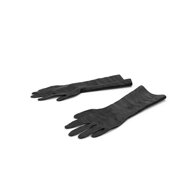 Large Black Rubber Lab Gloves PNG & PSD Images