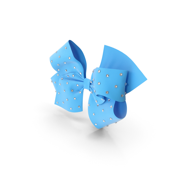 Large Hair Bow with Rhinestones PNG & PSD Images