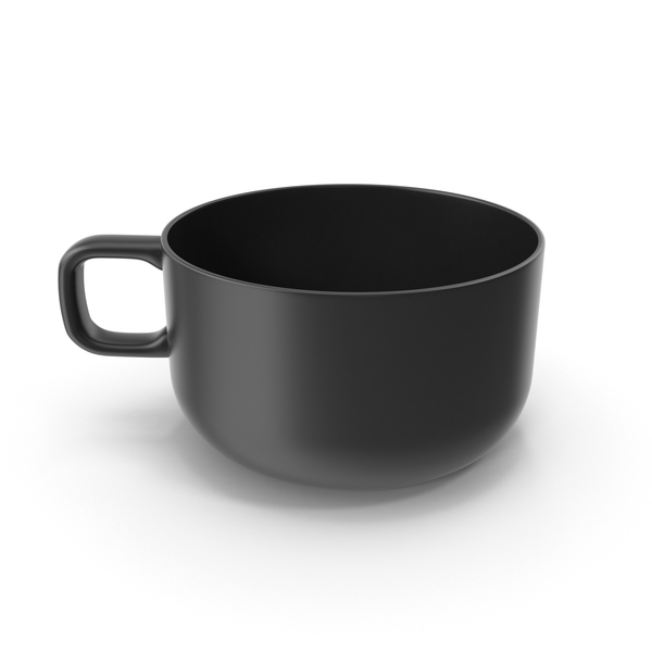 Coffee Cup: Large Mug Black PNG & PSD Images
