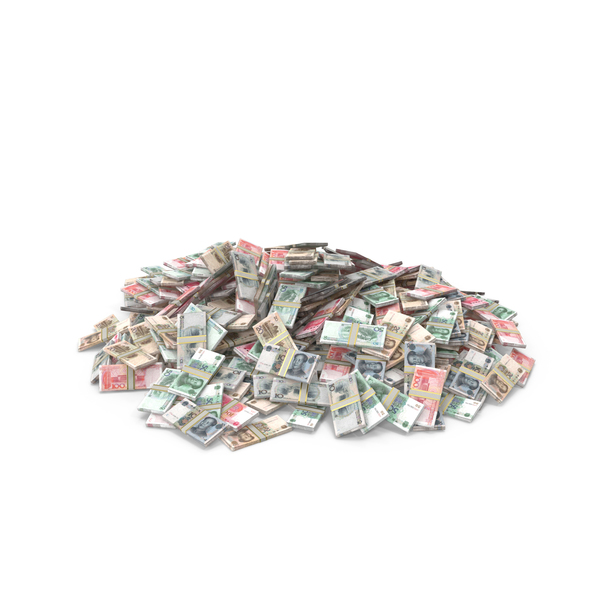 Banknote: Large Pile of Chinese Yuan Stacks PNG & PSD Images