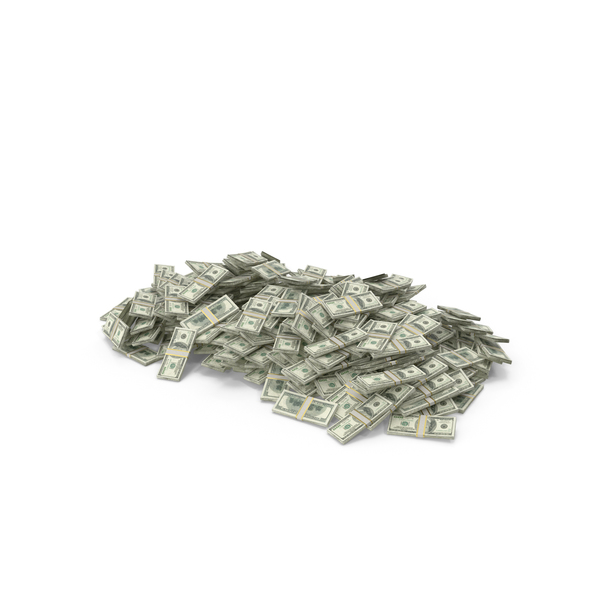 Banknote: Large Pile of dollar stacks PNG & PSD Images
