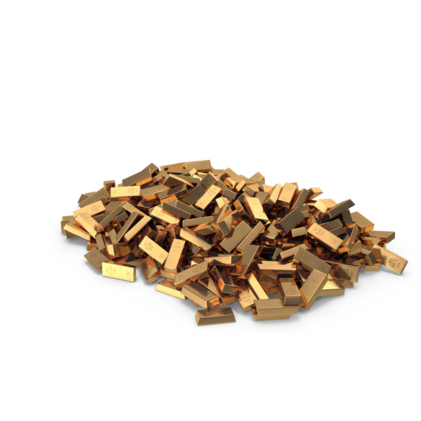 Large Pile Of Gold Bars PNG & PSD Images