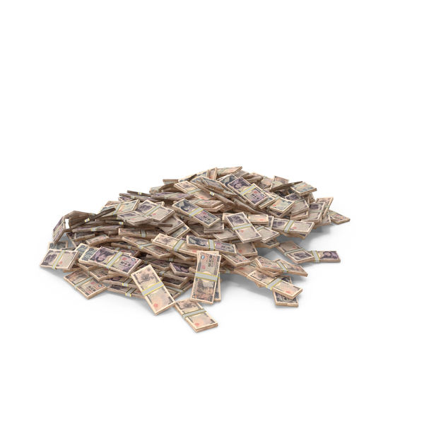 Banknote: Large Pile of Japanese Yen Stacks PNG & PSD Images