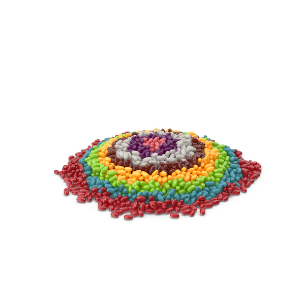 Candy: Large Pile Of Jelly Beans Rainbow Circles PNG & PSD Images