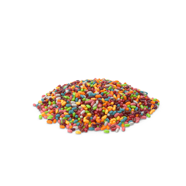 Large Pile of Jellybeans PNG & PSD Images