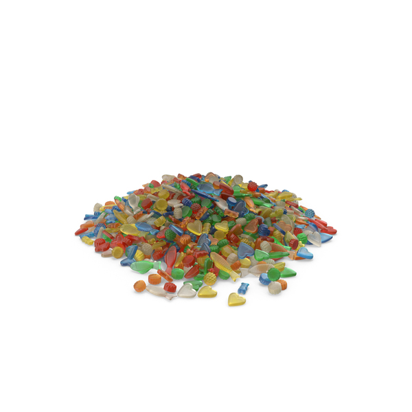 Large Pile Of Mixed Gummy Candy PNG & PSD Images